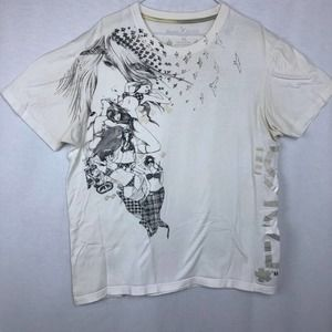 Marc Ecko Graphic T-Shirt with Anime Girls   XL